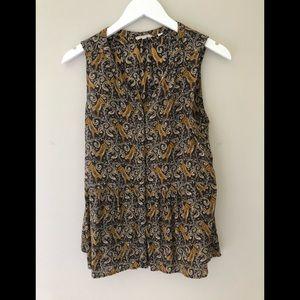 💙 2/$25 Fat Face tropical tunic sleeveless 6